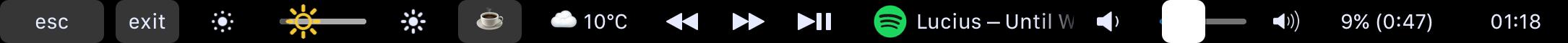 My TouchBar.My rules:定制你自己的 TouchBar插图1